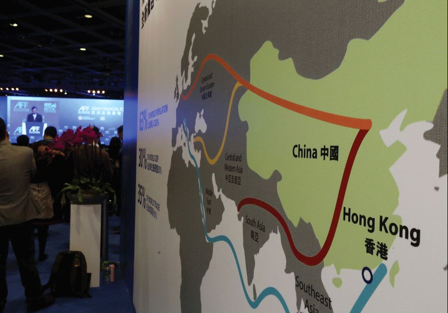 THIS MAP illustrates China's 'New Silk Road' initiative