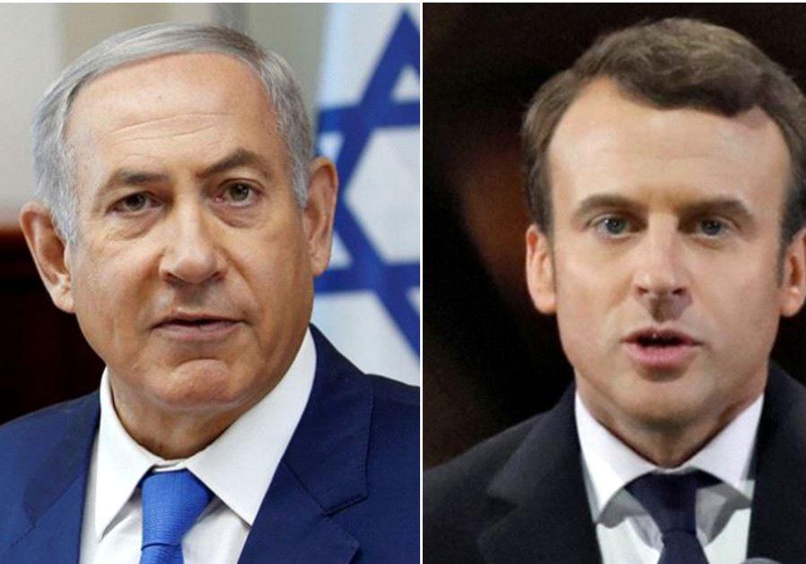 PM Netanyahu and French President Macron