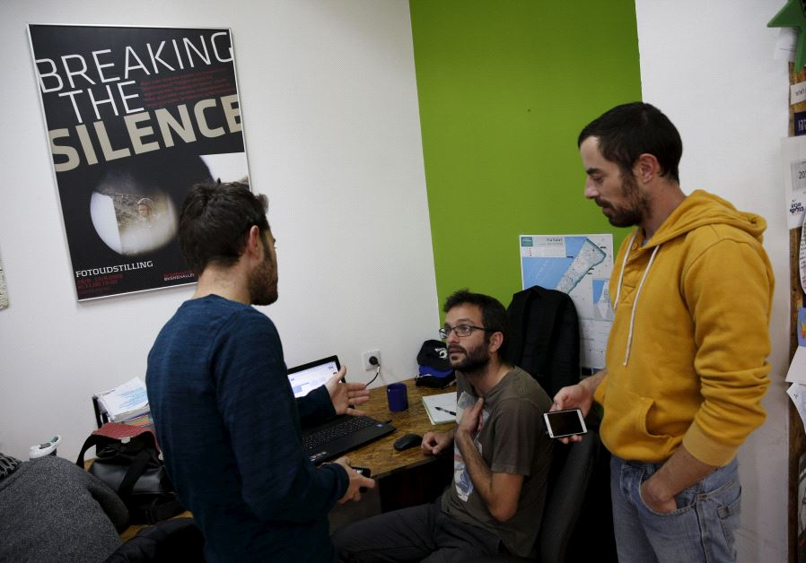 "Employees work at the offices of ""Breaking the Silence"" in Tel Aviv, Israel"