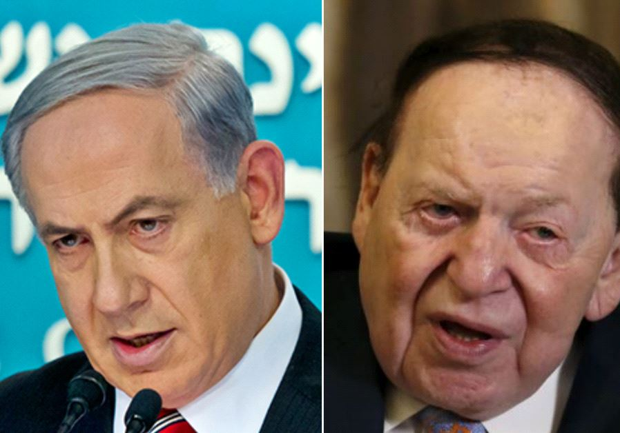 Benjamin Netanyahu and Sheldon Adelson