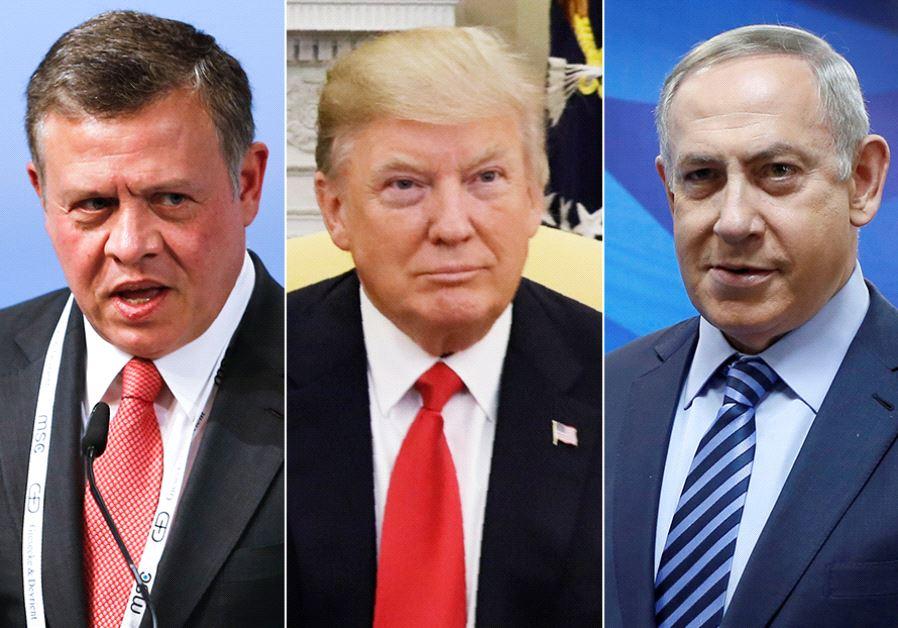 King Abdullah, Trump and Netanyahu