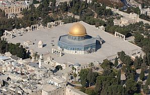 temple mount aerial view dome of the rock 298