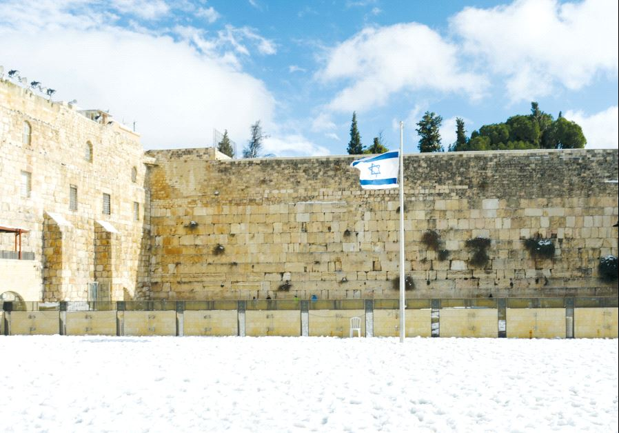 The Western Wall winter