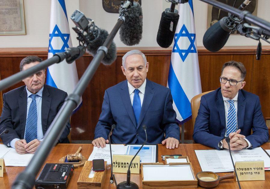 sraeli Prime Minister Benjamin Netanyahu chairs the weekly cabinet meeting in Jerusalem May 21, 2017