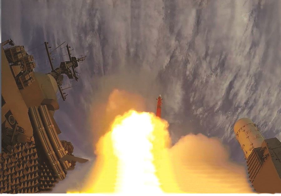The Barak 8 surface-to-air missile