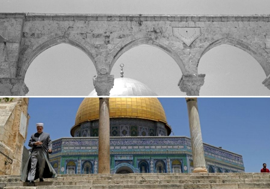 Temple Mount then and now