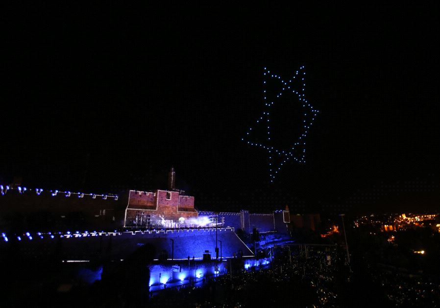 Fireworks over Jerusalem's Old City May 21, 2017