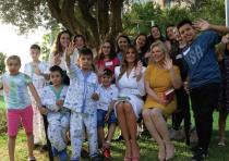 FIRST LADY Melania Trump and Sara Netanyahu, the wife of the prime minister, sit with children who a