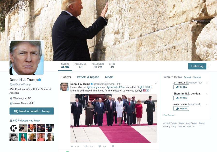 donald trump western wall twitter