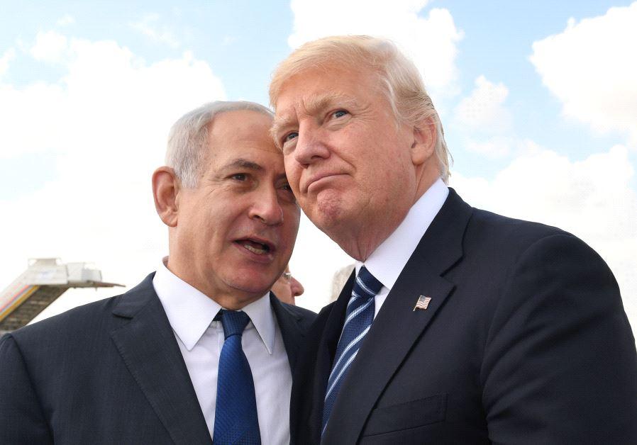Prime Minister Benjamin Netanyahu and US President Donald Trump