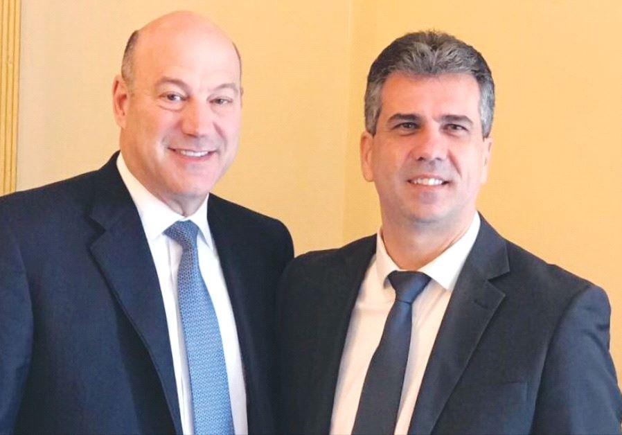 ECONOMY MINISTER Eli Cohen (right) poses with Gary Cohn, US President Trump's economic adviser.