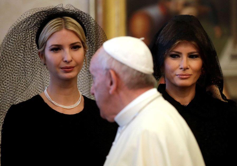 ivanka and melania trump pope vatican