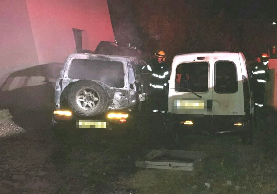 Vandalists burned vehicles in a Price Tag hate crime in northern Israel.