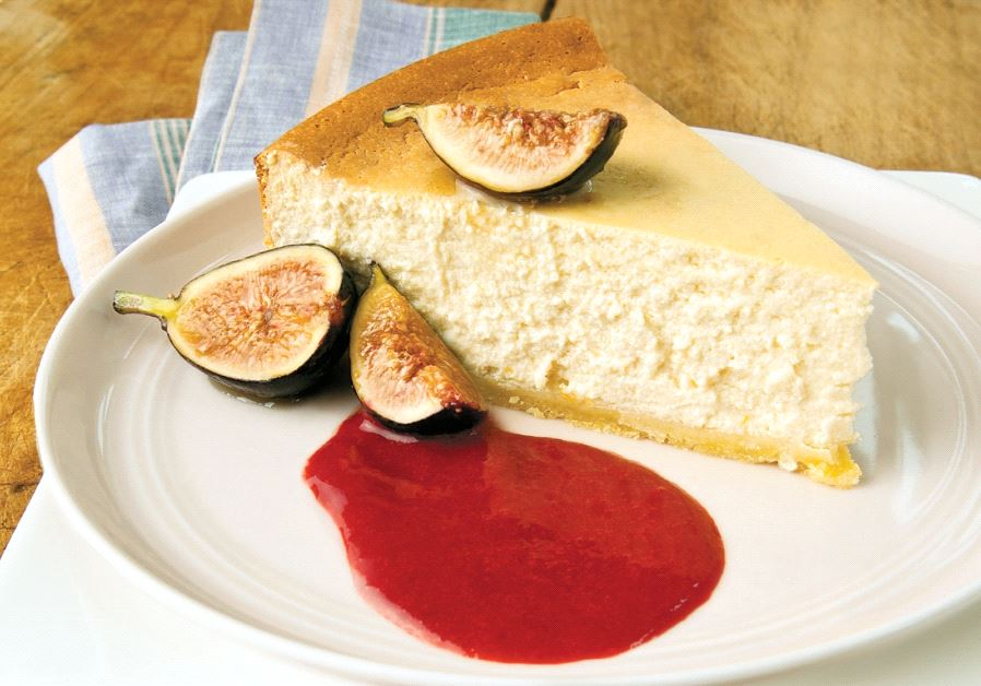 Ricotta and honey cheesecake