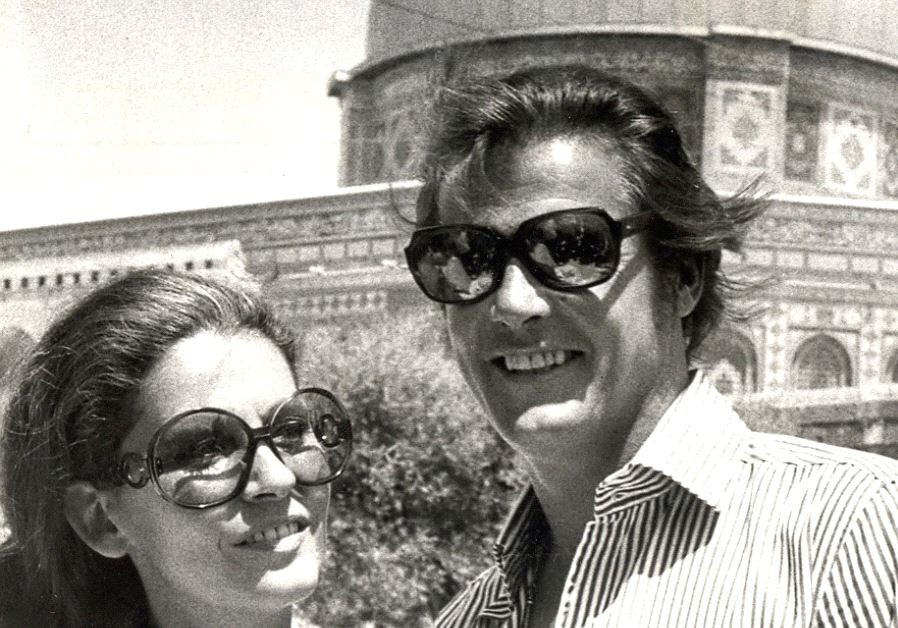 ROGER MOORE and his third wife, Luisa Mattioli, visit the Dome of the Rock in Jerusalem in 1972
