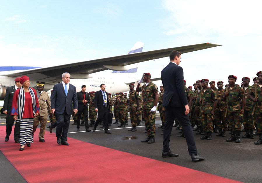 PM Netanyahu in Liberia (picture: Kobi Gideon/GPO)