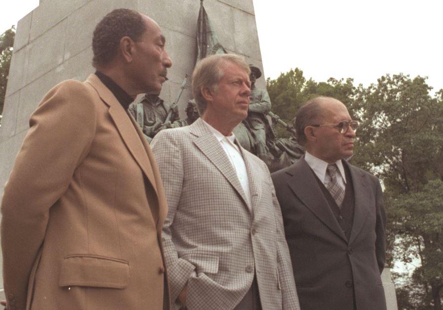 Sadate, Carter et Begin en 1978