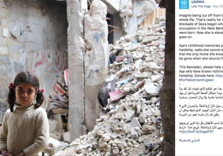 UNRWA Twitter screenshot