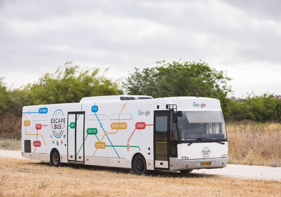 google escape bus hits the roads in israel israel news jerusalem post. Black Bedroom Furniture Sets. Home Design Ideas