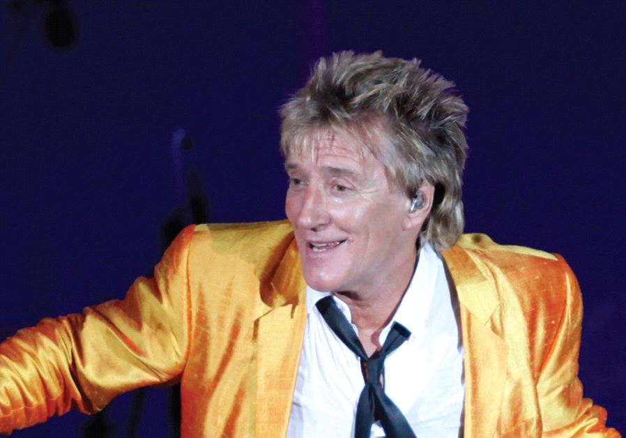 British singer Rod Stewart performs during his concert in Floriana