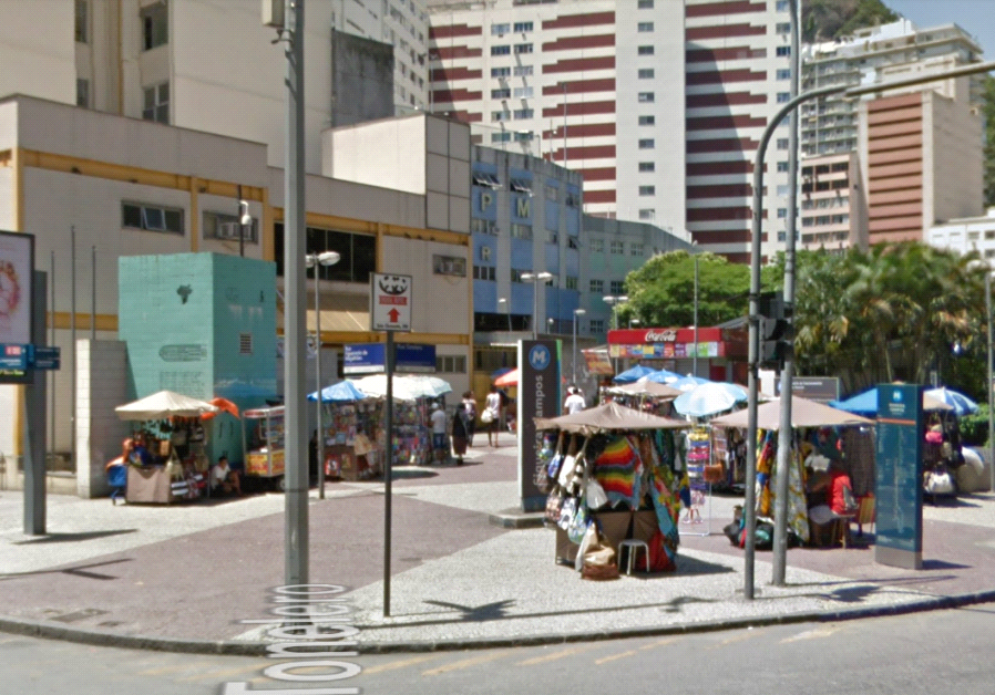 The public square named after Shimon Peres in Rio De Janeiro