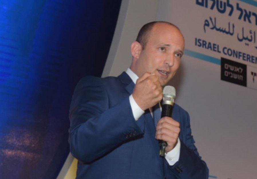 Naftali Bennet at Haaretz Peace Conference