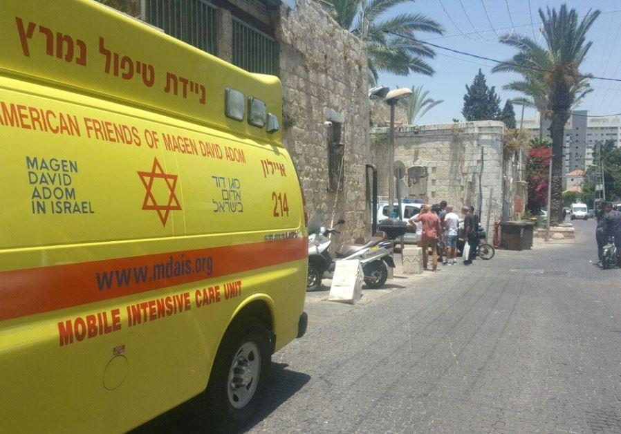 Photo of the scene outside the apartment in Ramle, where an a 17-year-old woman was found dead on Tu