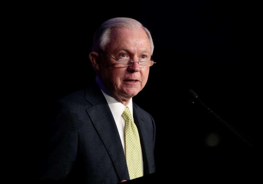 US Attorney General Jeff Sessions (photo credit: REUTERS/CHRIS ALUKA BERRY)