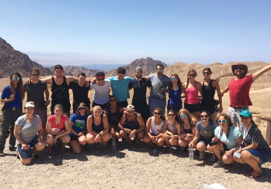 PARTICIPANTS ON a Birthright Israel Plus trip to Eilat that included snorkeling, yoga and hiking enj