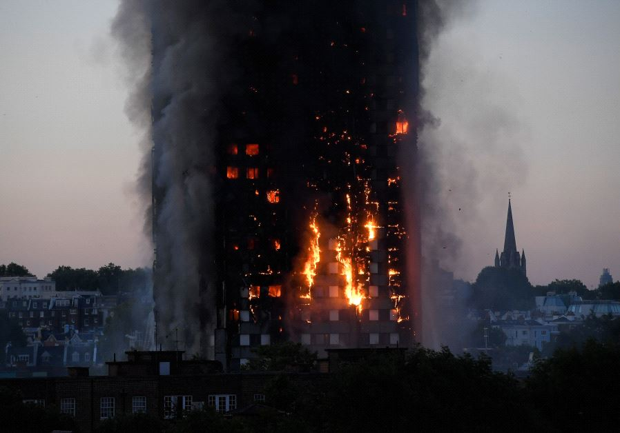 Major blaze erupts in central London tower block