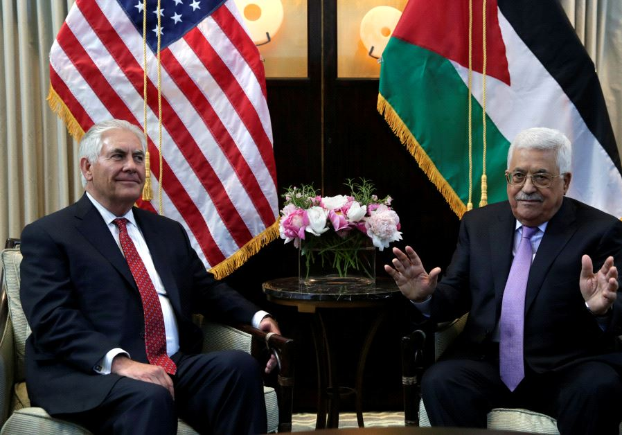 Secretary of State Rex Tillerson meets with Palestinian President Mahmoud Abbas
