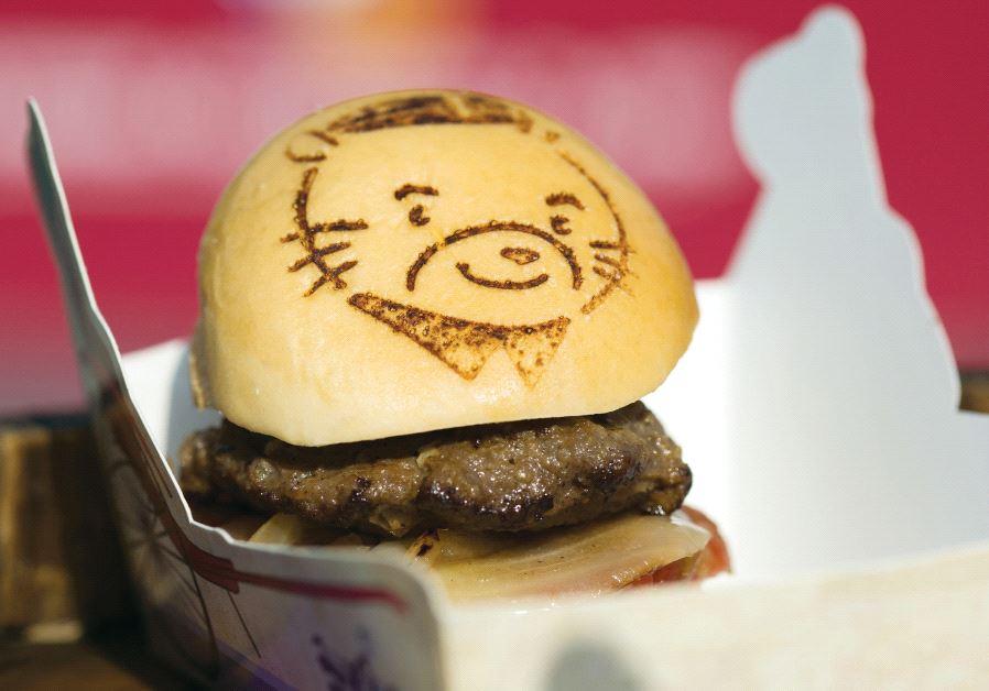 Man-made meat burger