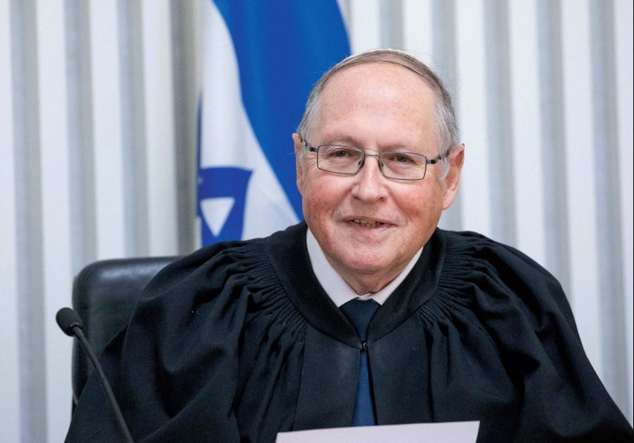 JUSTICE ELYAKIM RUBINSTEIN at his retirement ceremony at the High Court in Jerusalem