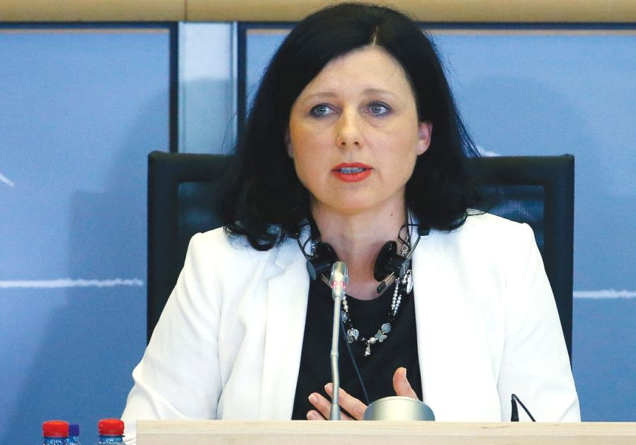 EU COMMISSIONER for Justice, Consumers and Gender Equality Vera Jourova.