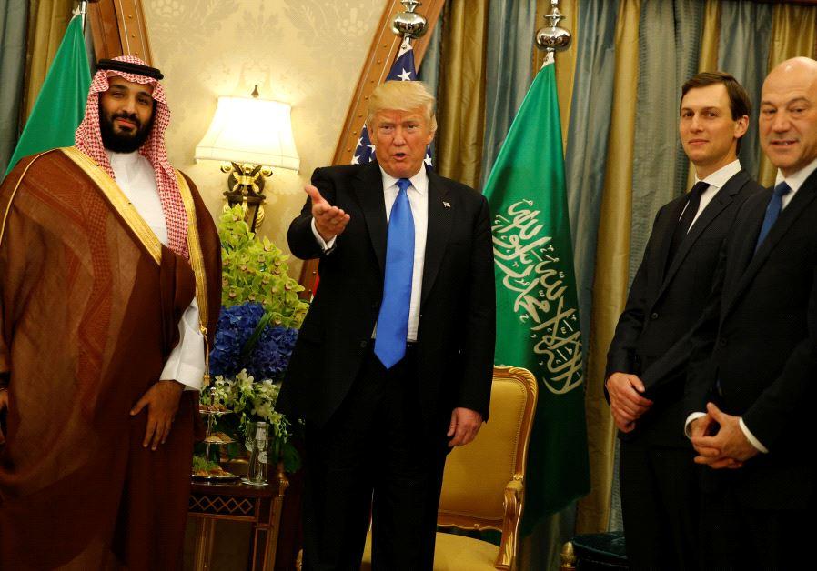Donald Trump, Jared Kushner, Mohammed bin Salman