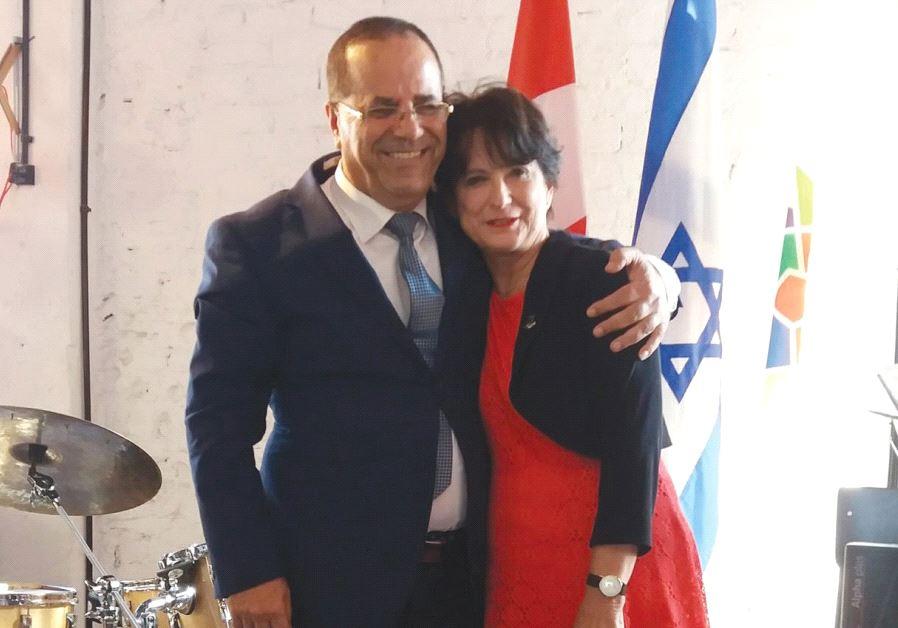 Ayoub Kara with Canadian Ambassador Deborah Lyons.