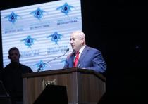 Prime Minister Benjamin Netanyahu speaking at a Birthright event.