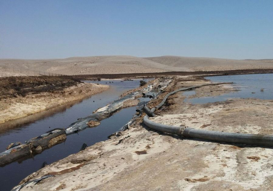 Industrial waste water contamination in Israel