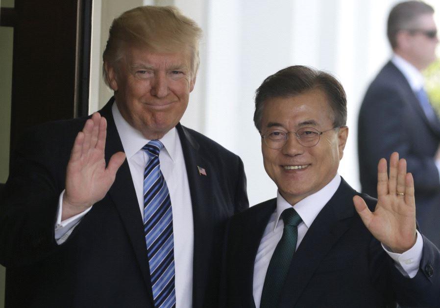donald trump moon south korea