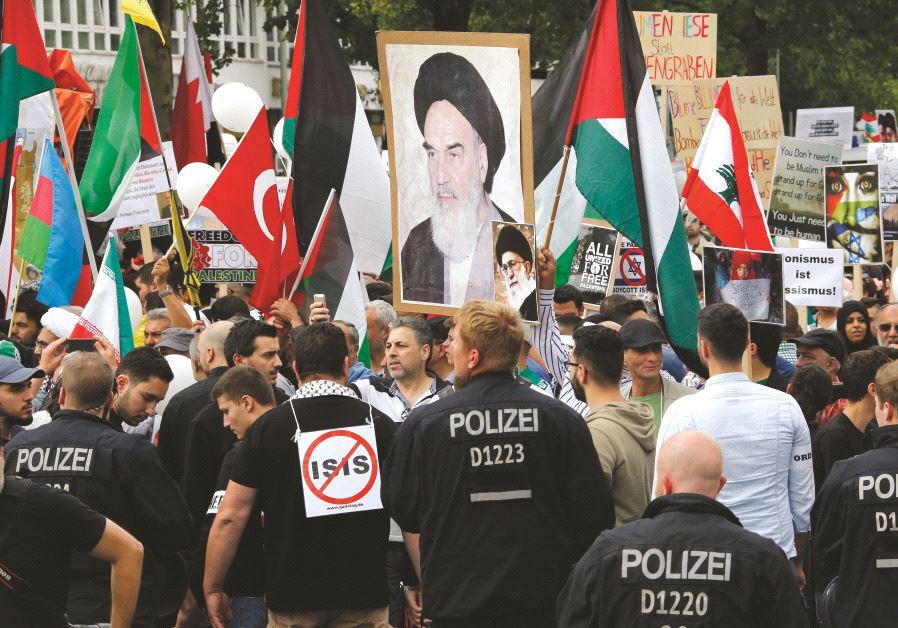 """Juin 2015, des manifestants protestaient lors de la journée annuelle """"Al Quds"""""""