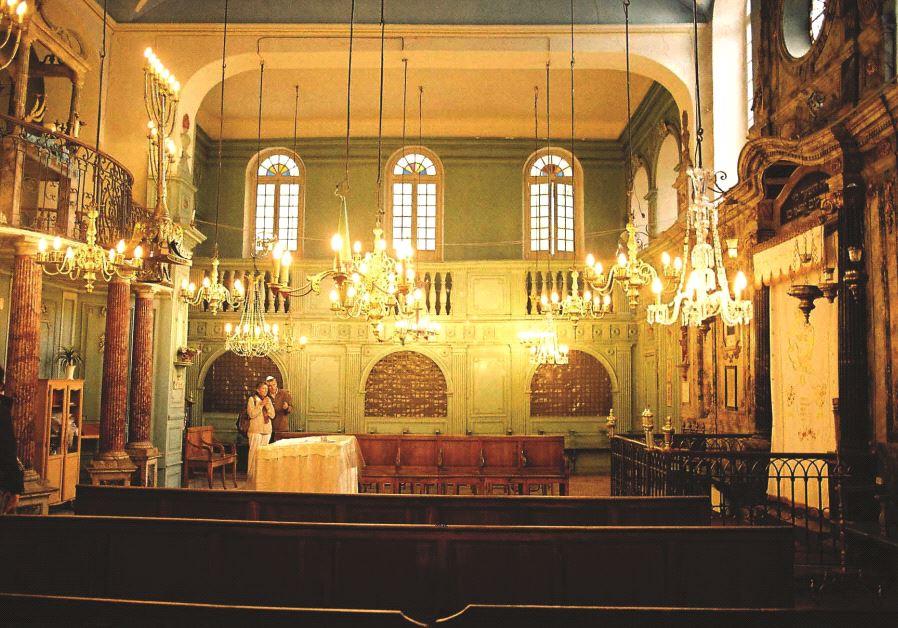 Une des vues intérieure de la Synagoque de Carpentras
