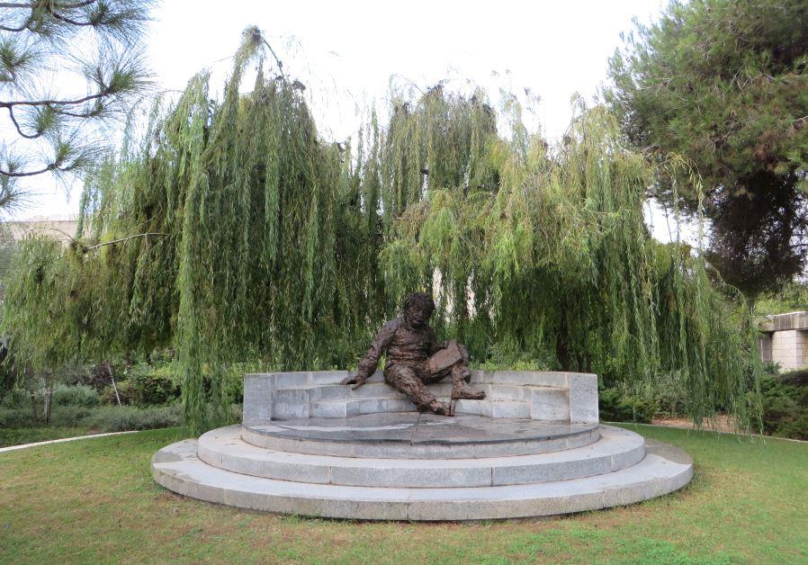 Albert Einstein sculpture, in the gardens of the Israel Academy of Sciences and Humanities, Jerusale