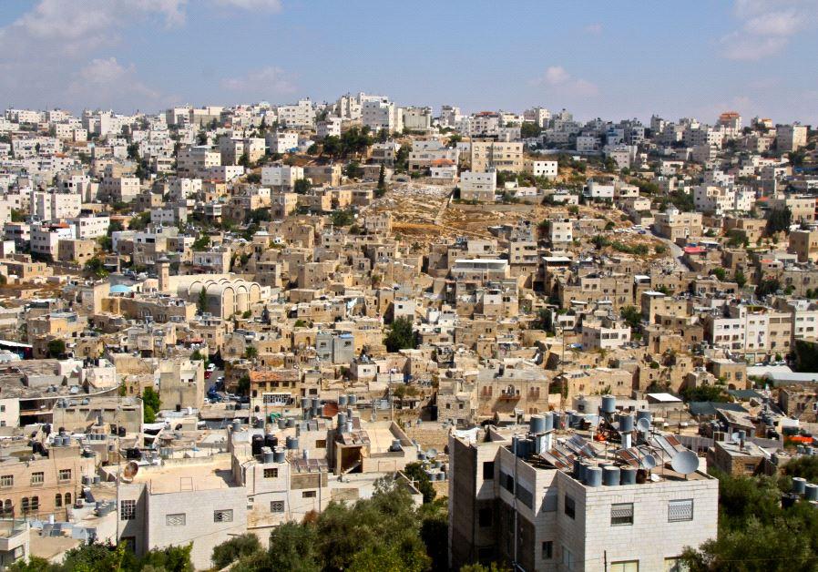 The Old City of Hebron as seen from the Tel Rumeida neighborhood