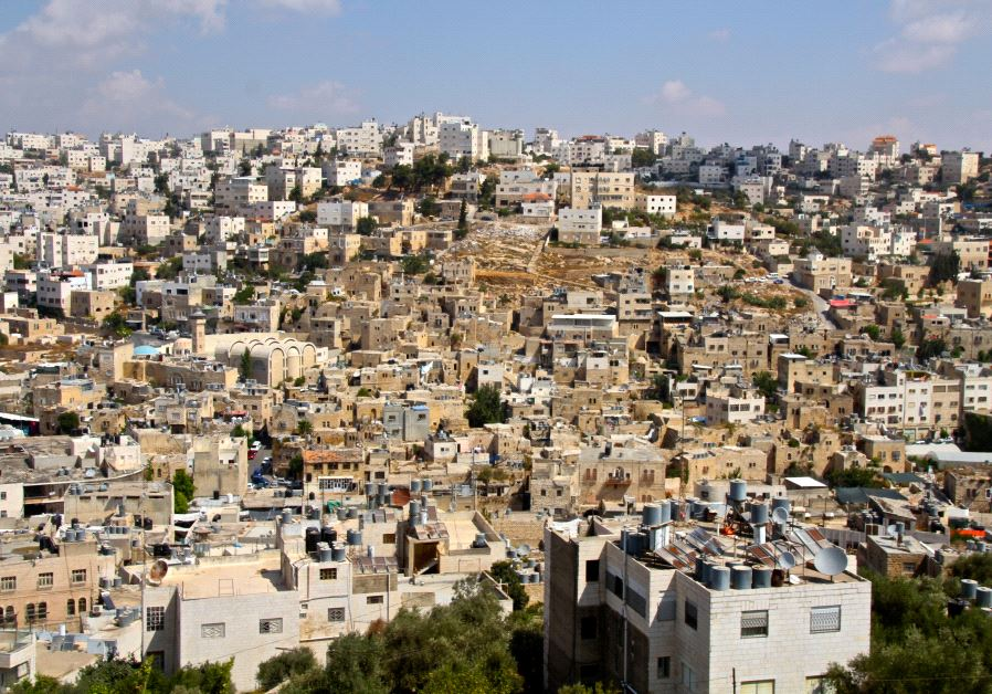 The Old City of Hebron as seen from the Tel Rumeida neighborhood