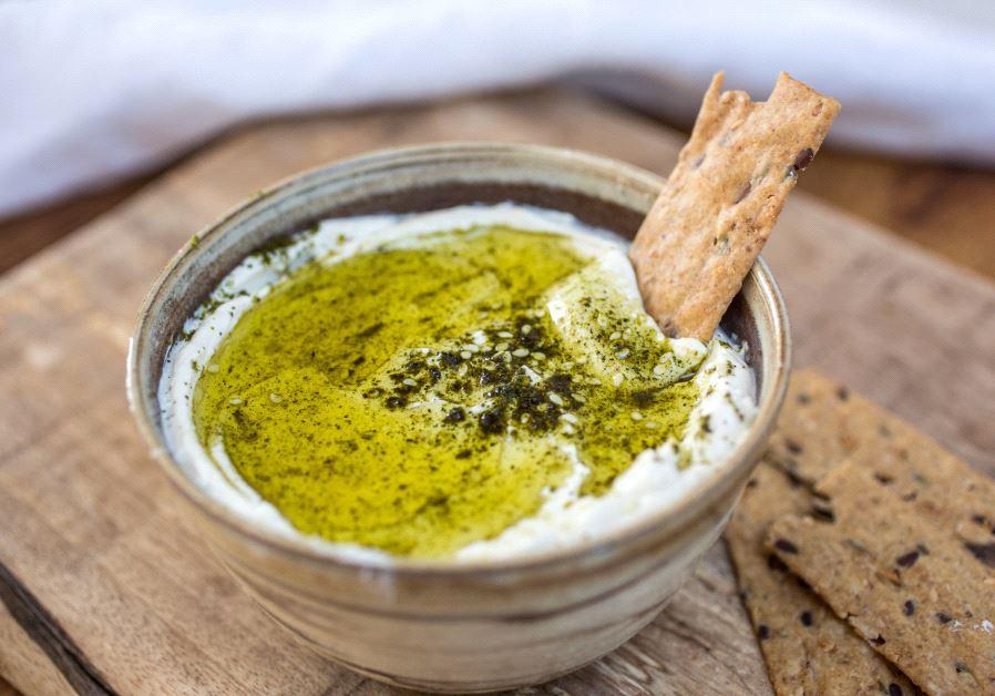 Homemade vegan Israeli dip (Alona Lahav).