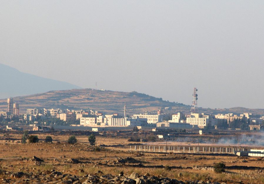 A general view shows Baath city, bordering the Israeli Golan Heights, Syria June 24, 2017.