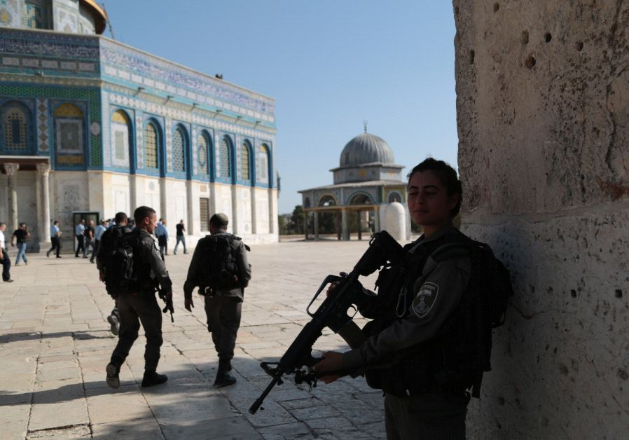 Border Police at sight of terror attack on Temple Mount July 14