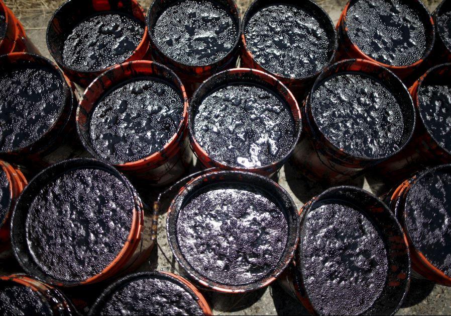 Buckets of oil