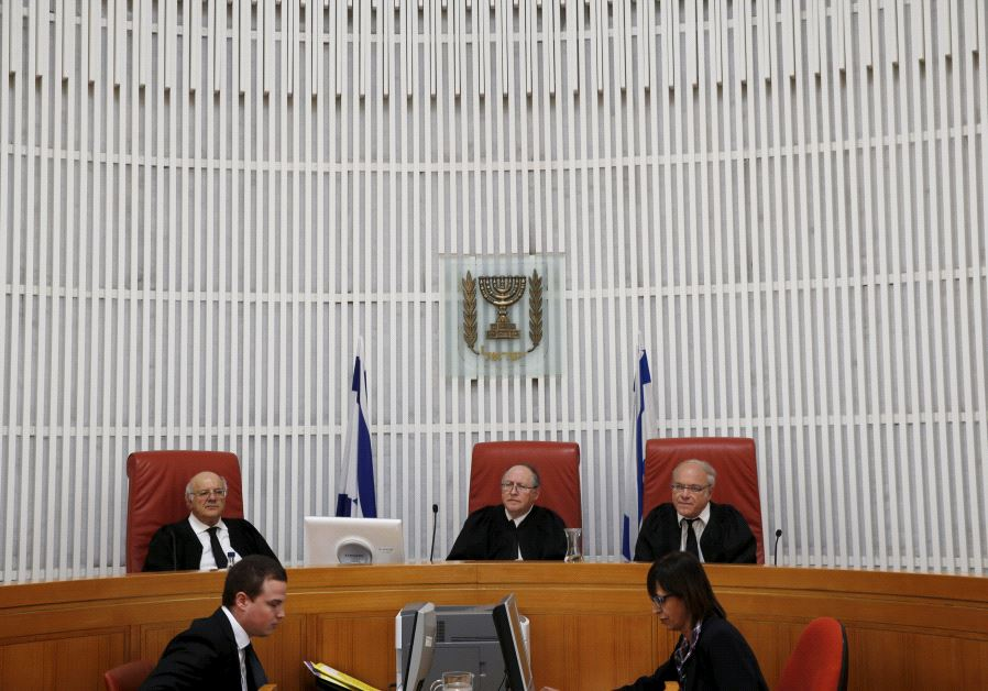 The Supreme Court in Jerusalem hearing a case, August 19, 2015.