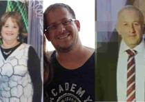 The three victims of the lethal attack in Halamish.